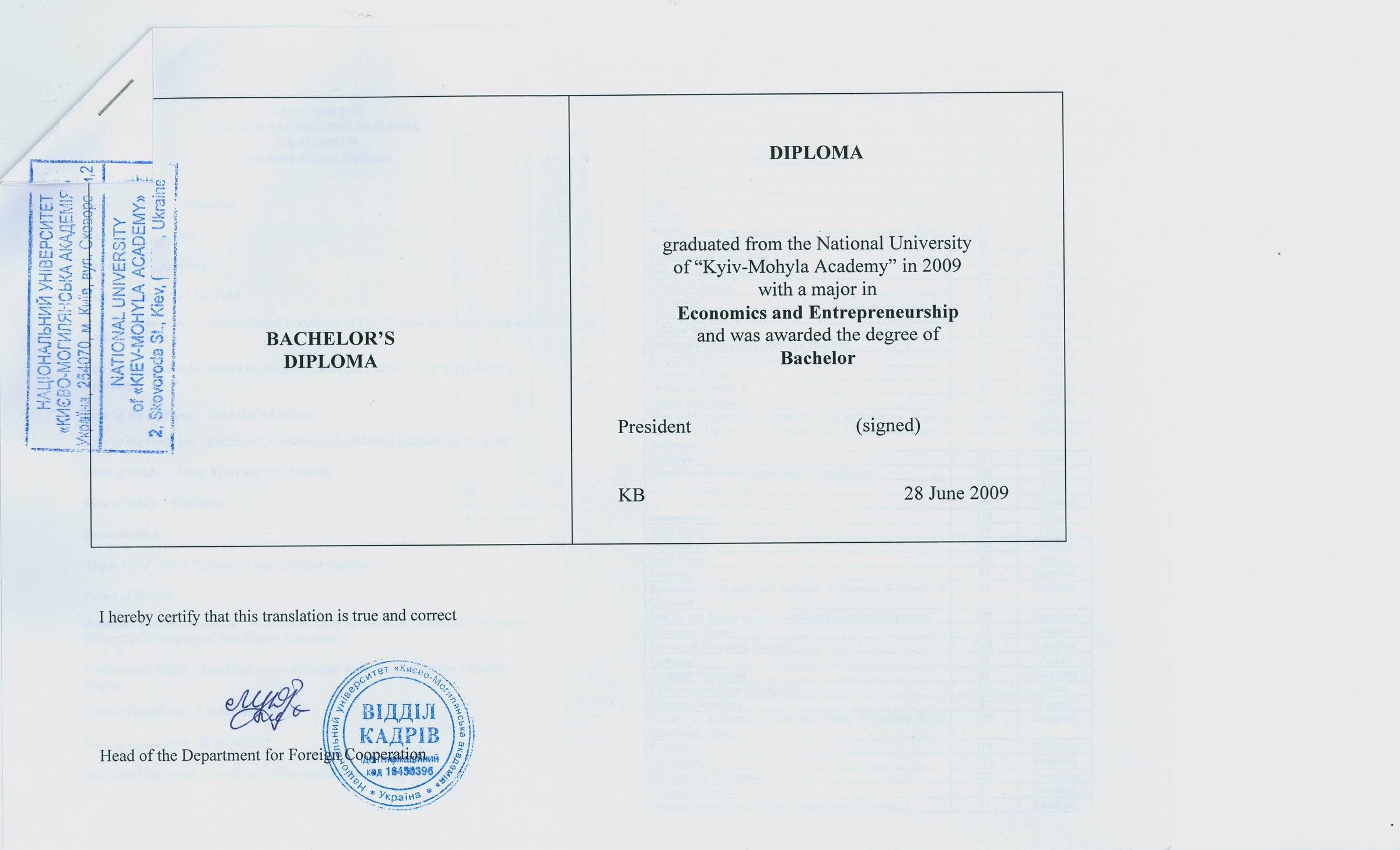 certified documents