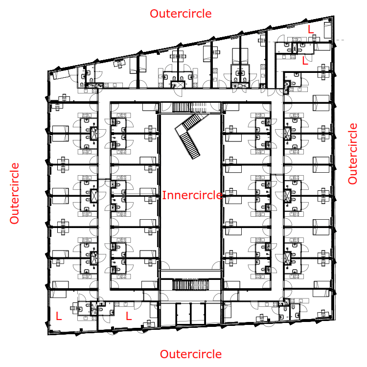 Xior building, floorplan