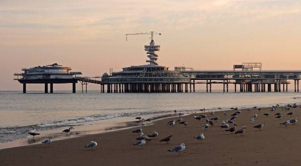 Scheveningen beach at sunset