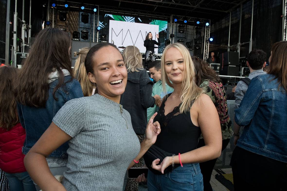 Students at performance of Maan at HeartBeat Festival 2018