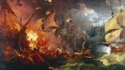 Spaanse Armada door Loutherbourg