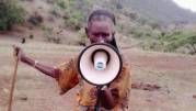 Rural Ethiopia - woman with megaphone